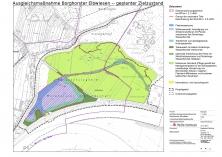 Borghorster Elbwiesen: Zielzustand der Wiedervernässung lt. ReGe-Planung